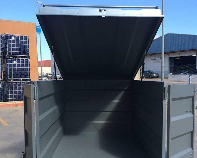 Remolque-furgon-cerrado-CHAPA-PLEGADA-+-techo-elevable-1-eje-con-freno---REMOLQUES-AYALA--