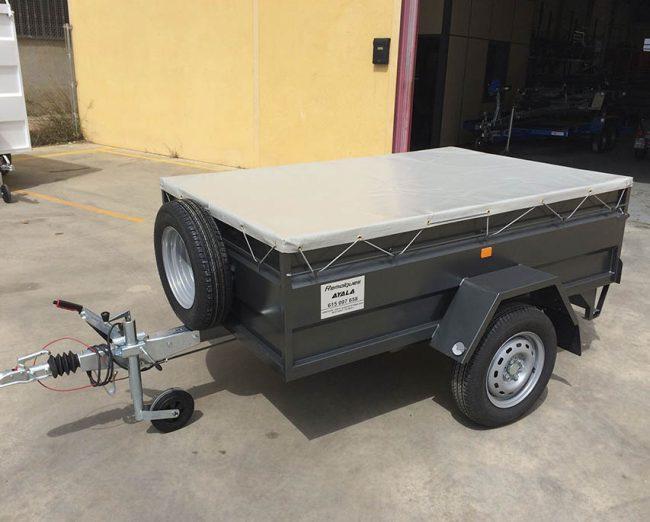 Remolque con toldo plano Carro 1 eje con freno de inercia MMA 750 KG - REMOLQUES AYALA - 4