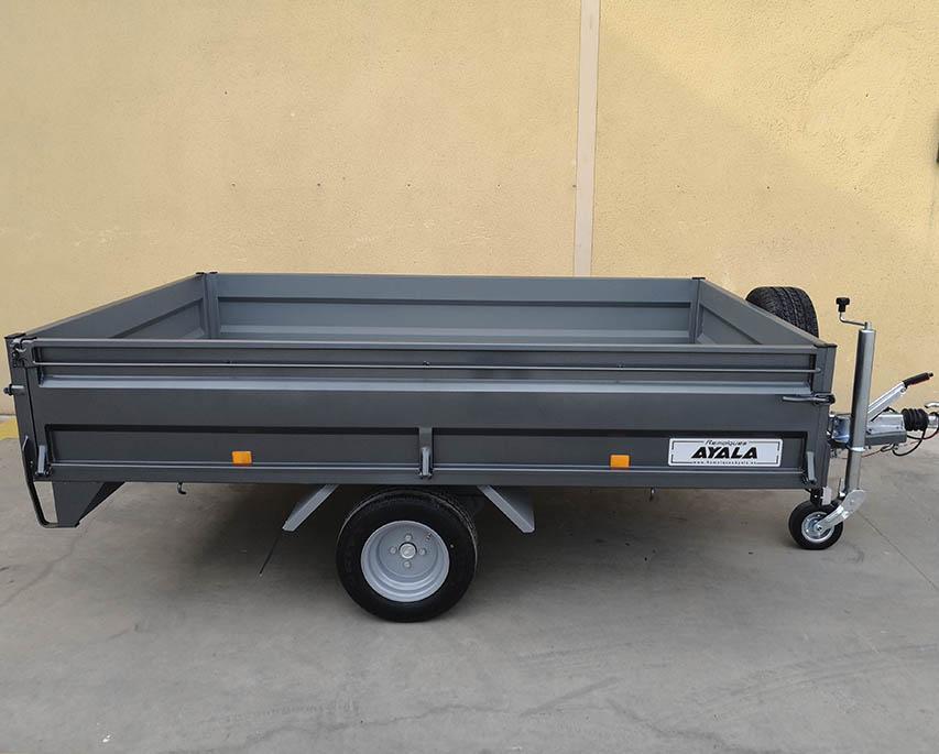 Remolque ruedas por debajo laterales abatibles y desmontables
