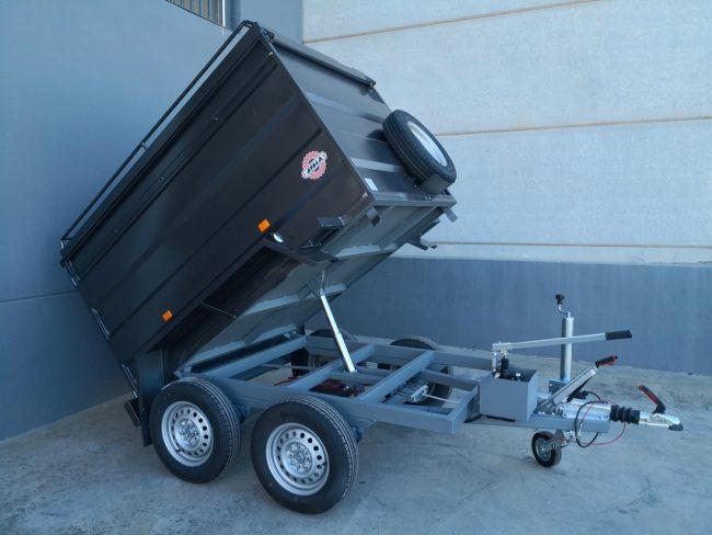 remolque furgon cerrado basculante